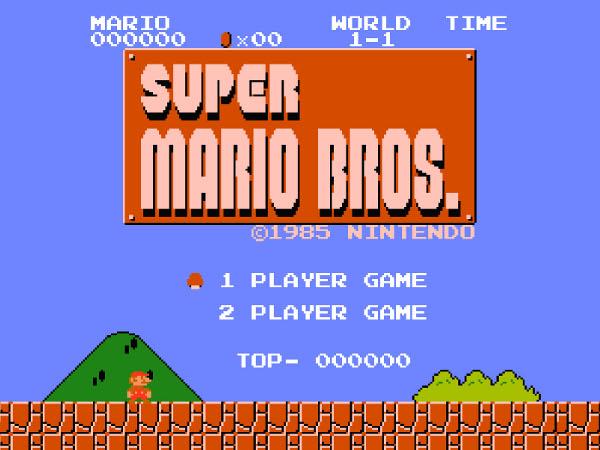 Super Mario Bress sur Nes